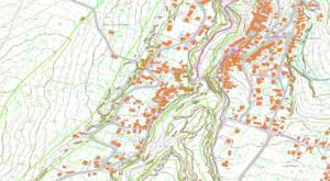 Figura 7. Sovrapposizione su cartografia tecnica regionale