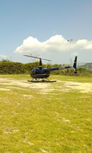Figura 2. Aeromobile della classe Robinson R44 sul quale è imbarcato il LiDAR