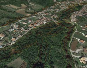 Figura 9. Esempio di sovrapposizione su Google Earth
